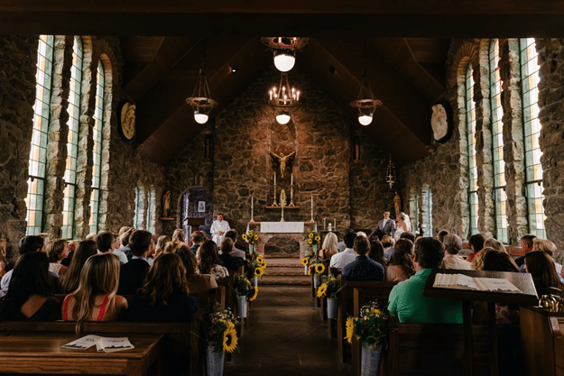 Congregation in a ceremony