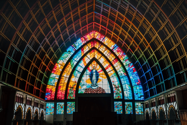 Colorful dome of a church